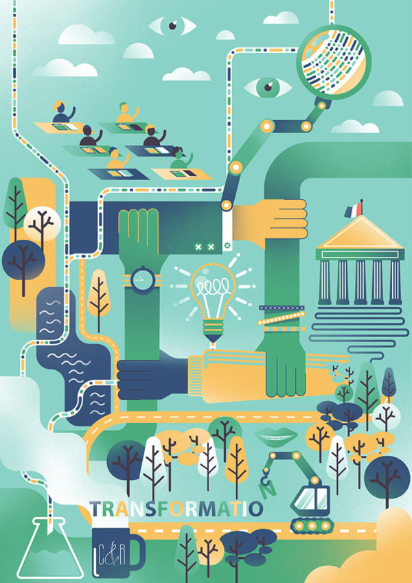 Le Chêne et le roseau – Editorial Illustration